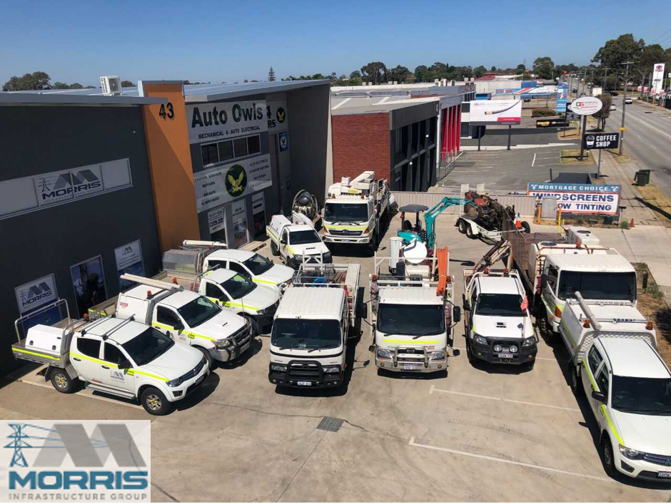 Morris Infrastructure Group Fleet Perth Western Australia