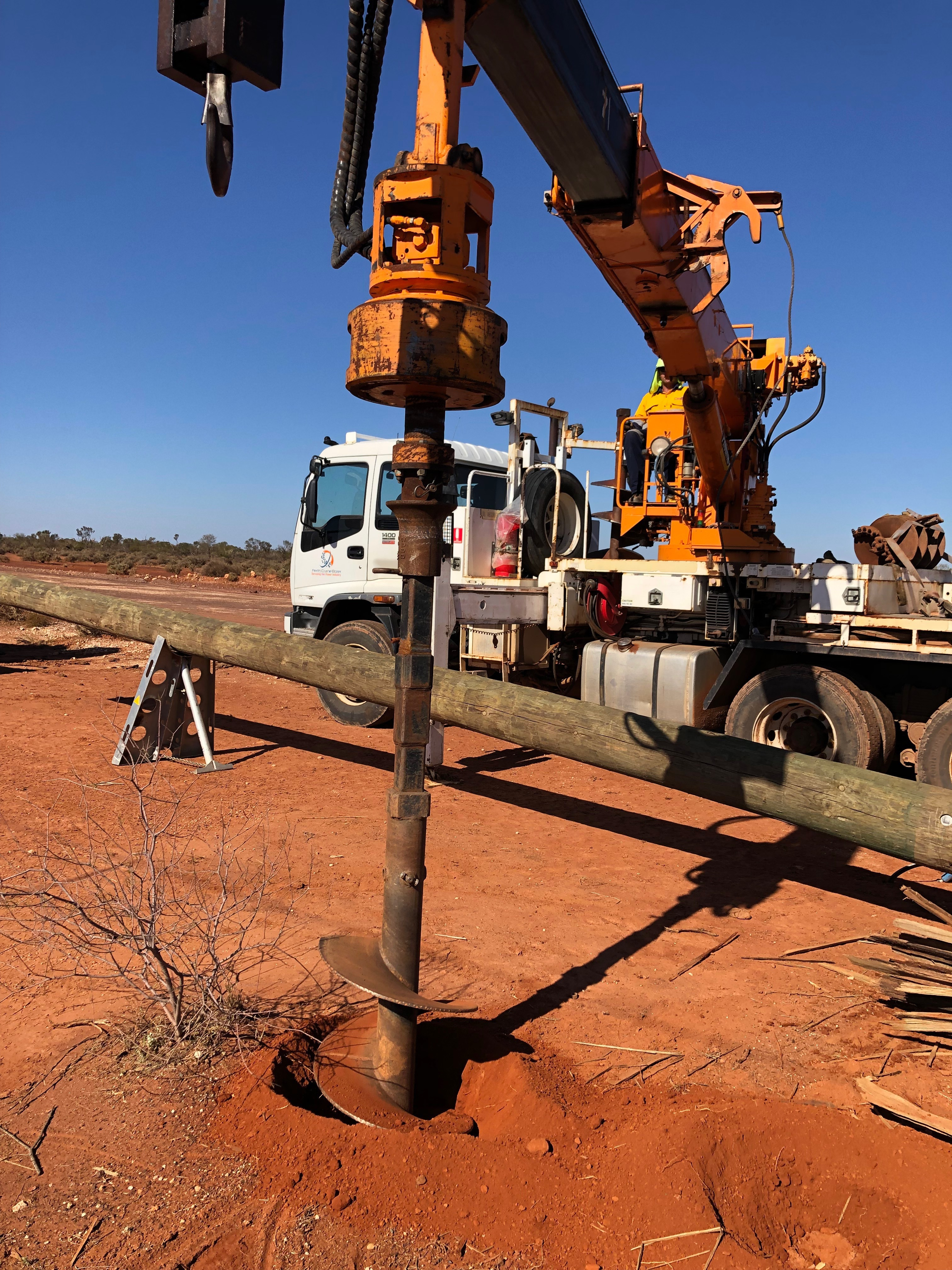 Morris Infrastructure Group Truck Drilling remote Perth, Western Australia