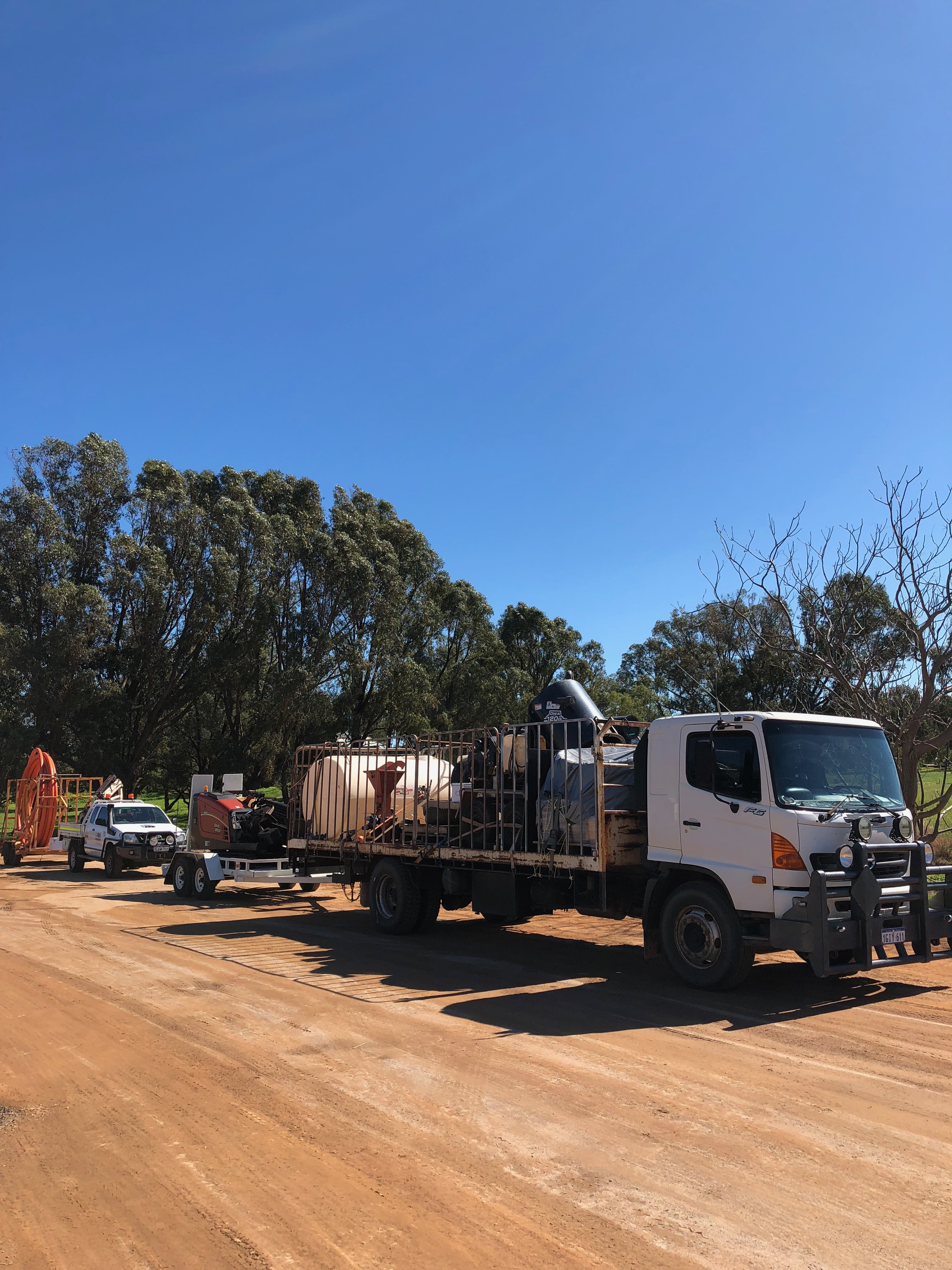Morris Infrastructure Group Distribution Network UTE and Truck Perth, Western Australia
